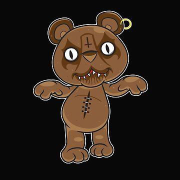 Black Metal Teddy Bear by newimagedepot