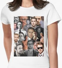 Ryan Gosling Collage Women's Fitted T-Shirt