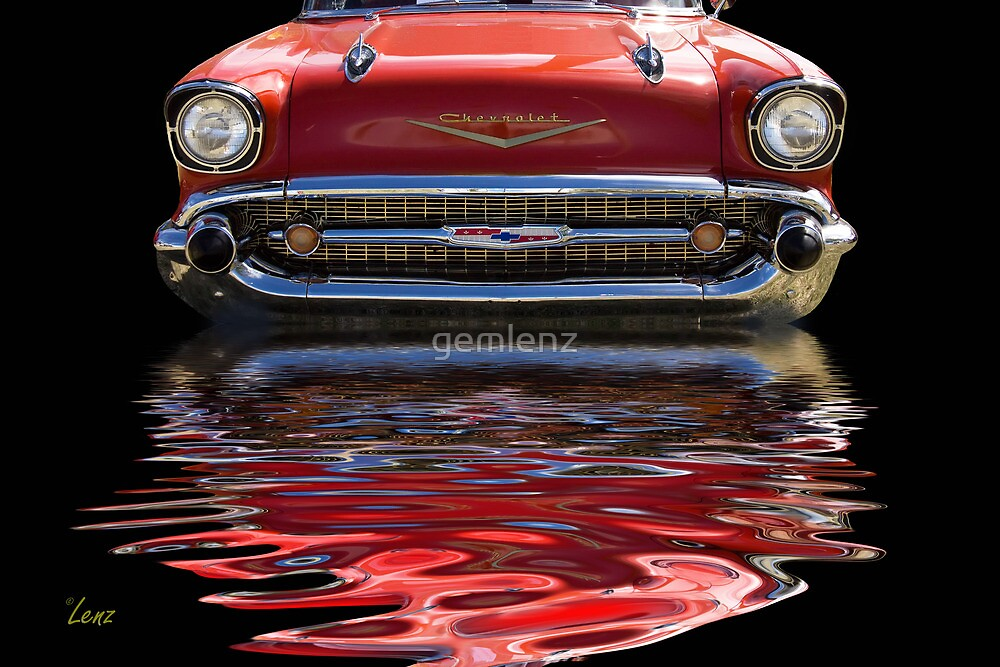 57 Red Chevy by George Lenz