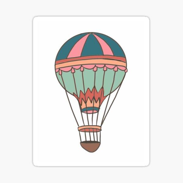 Hot air balloon no background Sticker
