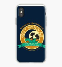 Great Pumpkin Ale Linus and Lucy iPhone Case