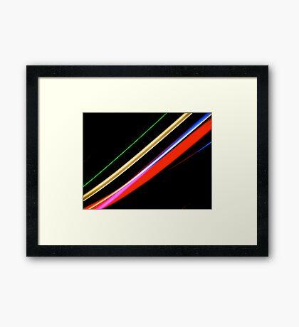 Neon Stripes Framed Print
