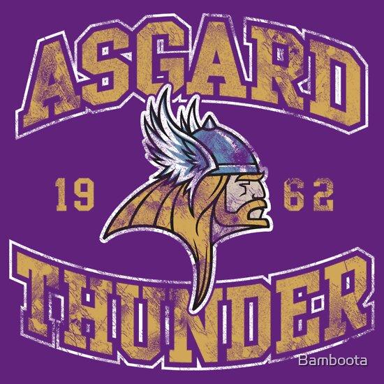 TShirtGifter presents: Asgard Thunder Football Athletic Tee