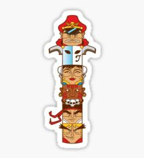 Street Fighter 2 Totem Sticker