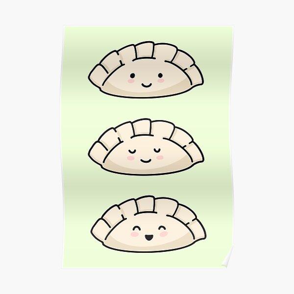 Cute Dumpling Faces Stickers Poster