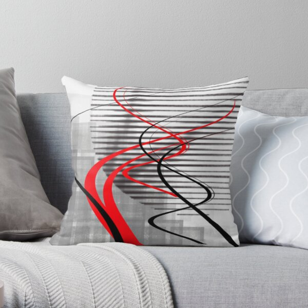 winter abstract digital painting Throw Pillow