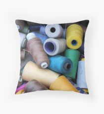 sewing thread Throw Pillow