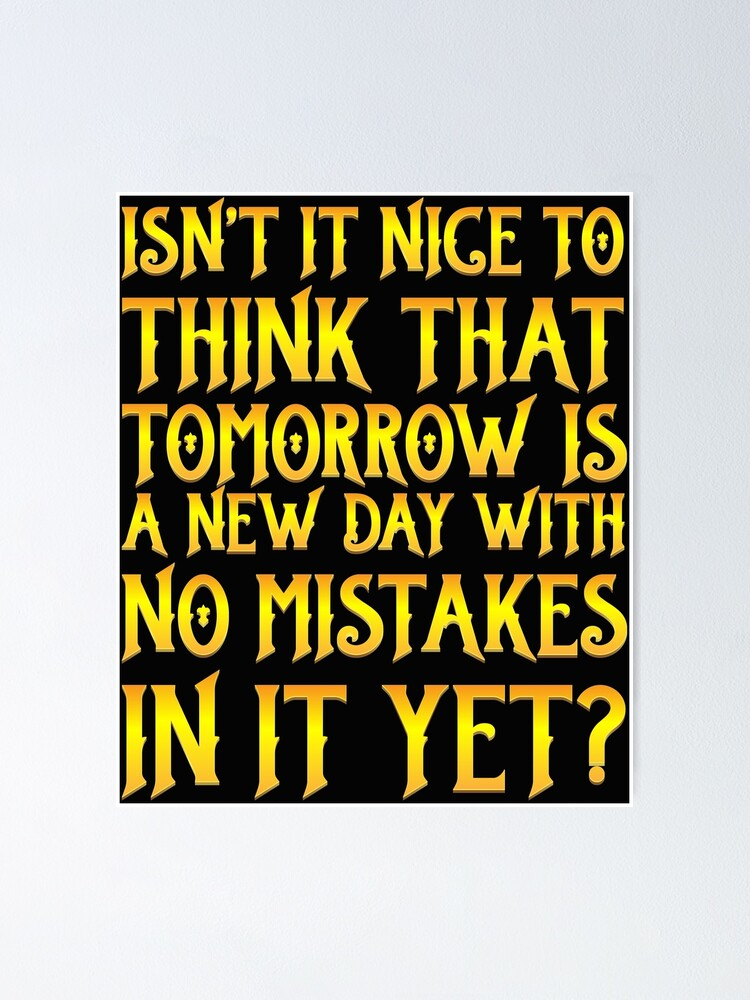 Tomorrow Is Another Day Motivational Inspirational Quote Poster Print Wall Art