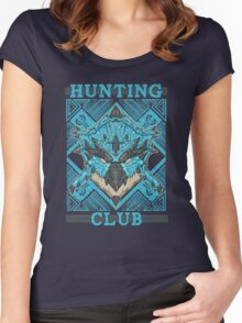 Hunting Club: Azure Rathalos Women's Fitted Scoop T-Shirt