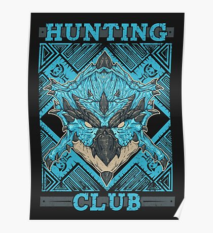 Hunting Club: Azure Rathalos Poster
