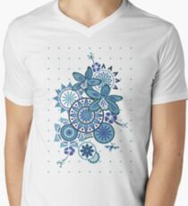 Tropical Blues Orchids & Wheels T-Shirt