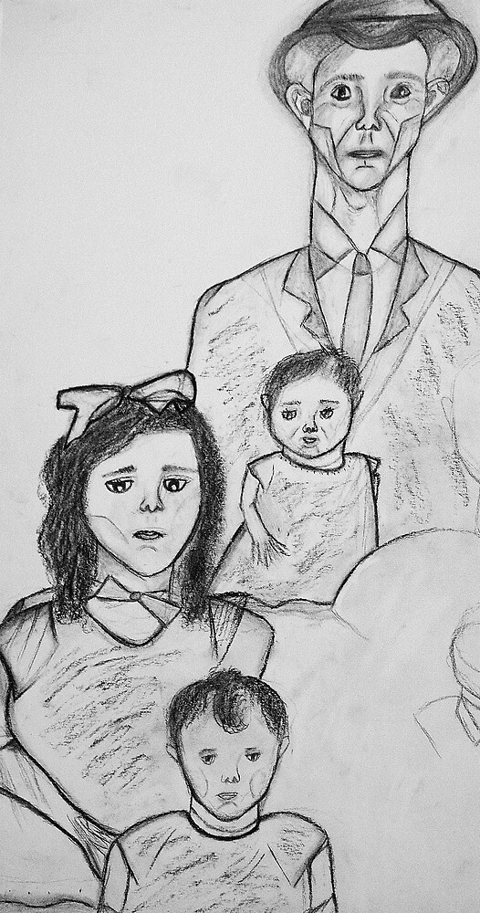Family Sketch 01 by C Rodriguez