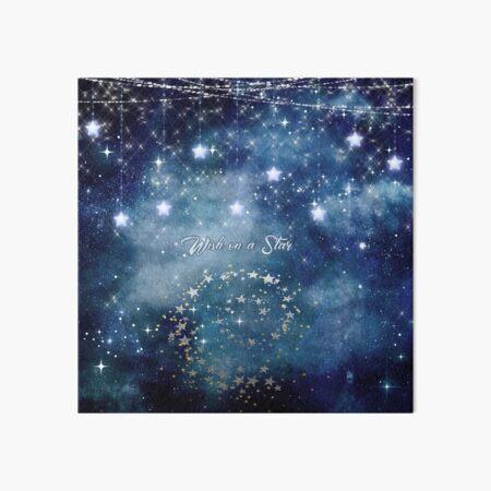 Wish on a Star Night Sky Art Board Print