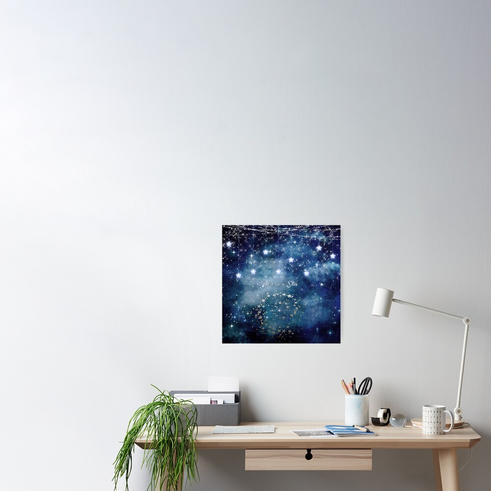 Wish on a Star Night Sky Poster