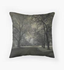 Dark Park Throw Pillow