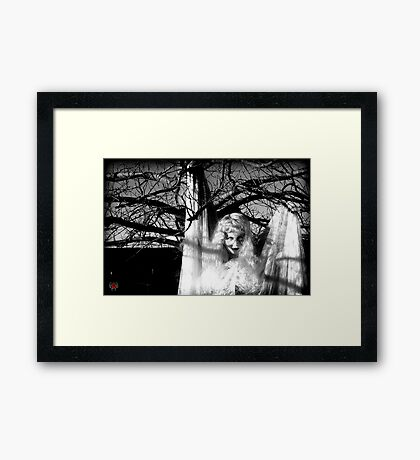 Holding on until the pain is too great Framed Print