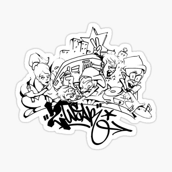 Hip Hop Get Down Sticker