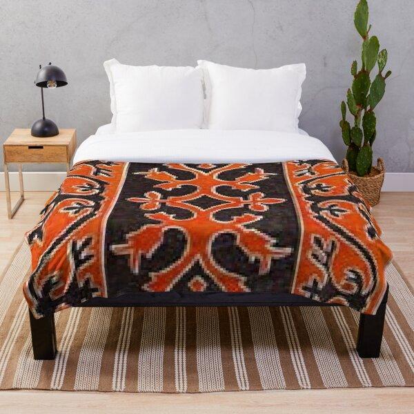 #Ковровый #узор #балкарского #карачаевского #войлчного #ковра #Carpet #pattern of a #Balkarian #Karachay #felt #carpet #Ковровыйузор #CarpetPattern #таулу #tawlu #mountaineer #таулула #tawlula Throw Blanket