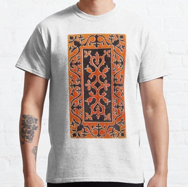 Tawlula T-Shirts, #Ковровый #узор #балкарского #карачаевского #войлчного #ковра #Carpet #pattern of a #Balkarian #Karachay #felt #carpet #Ковровыйузор #CarpetPattern #таулу #tawlu #mountaineer #таулула #tawlula Classic T-Shirt