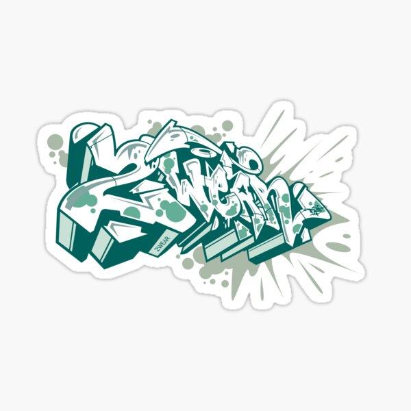 A graffiti style sticker Sticker
