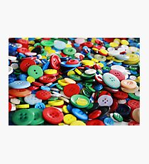 Bright primary coloured buttons Photographic Print