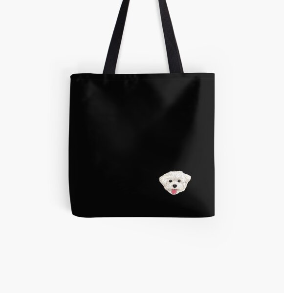 Maru the Maltese (face only) All Over Print Tote Bag