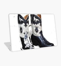 Black and White Boots Laptop Skin