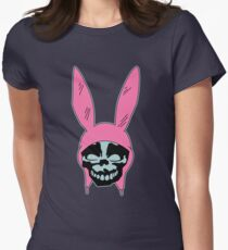 Grey Rabbit/Pink Ears Women's Fitted T-Shirt