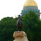 Copper horseman by Eduard Isakov
