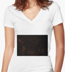 abstract background for texture Women's Fitted V-Neck T-Shirt