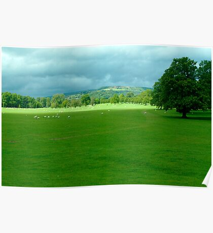Chatsworth Estate View. Poster
