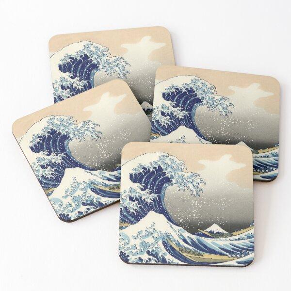 Katsushika Hokusai, The Great Wave off Kanagawa, 1831, Japanese painting Coasters (Set of 4)