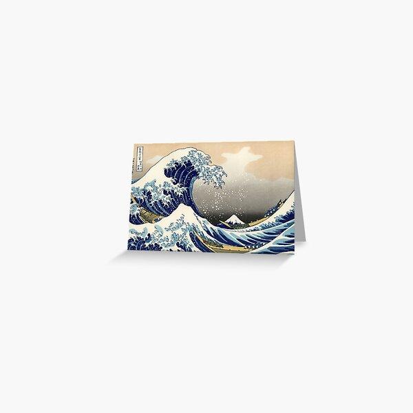 Katsushika Hokusai, The Great Wave off Kanagawa, 1831, Japanese painting Greeting Card