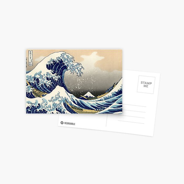 Katsushika Hokusai, The Great Wave off Kanagawa, 1831, Japanese painting Postcard