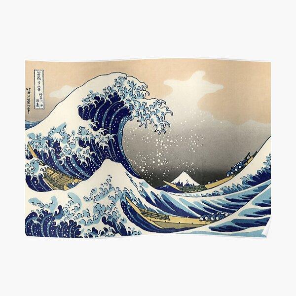 Katsushika Hokusai, The Great Wave off Kanagawa, 1831, Japanese painting Poster