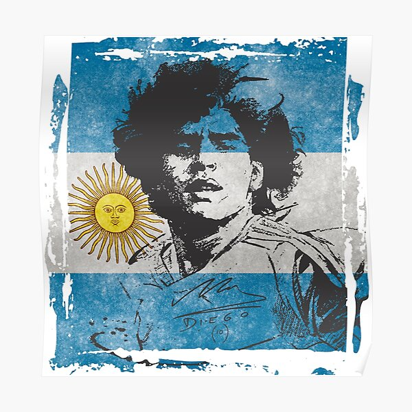 Drapeau Maradona Poster