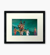 mayan ceremony Framed Print