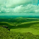 A valley in Brecon Beacons by Mark A