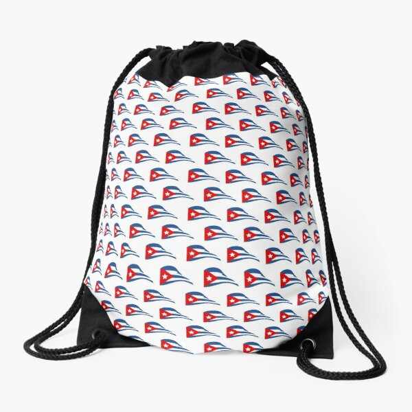 Cuban Flapping Flag Drawstring Bag