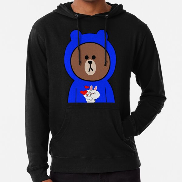 Brown bear cony bunny rabbit love & kisses Lightweight Hoodie