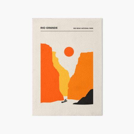 Rio Grande, Big Bend Nat. Park Art Board Print