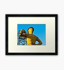 Golden Driller Framed Print