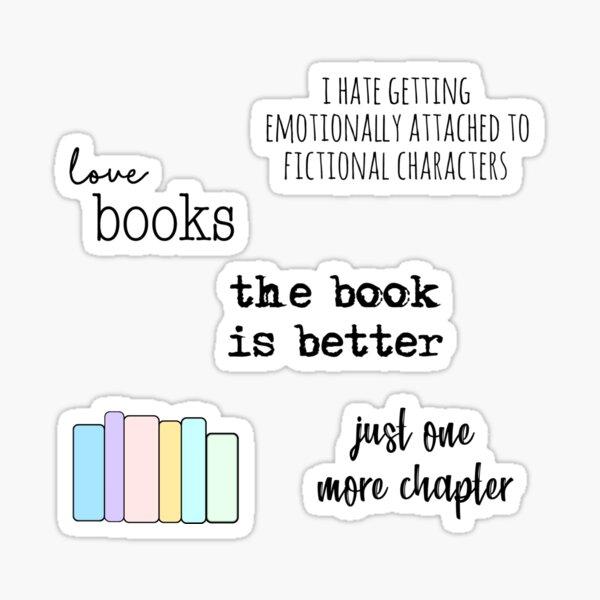 books & reading sticker pack Sticker