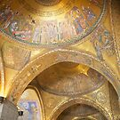 Basilica St Marco inside domed roof Venice Italy by grorr76