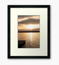 Sunrise On A Lake! Framed Print