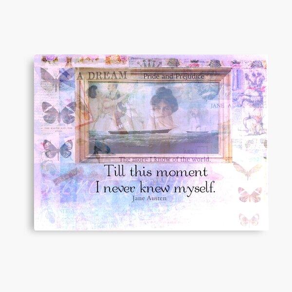 Jane Austen Life Quote Canvas Print