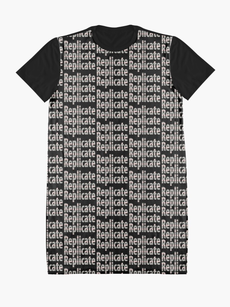 Alternate view of Replicate 3X. Graphic T-Shirt Dress