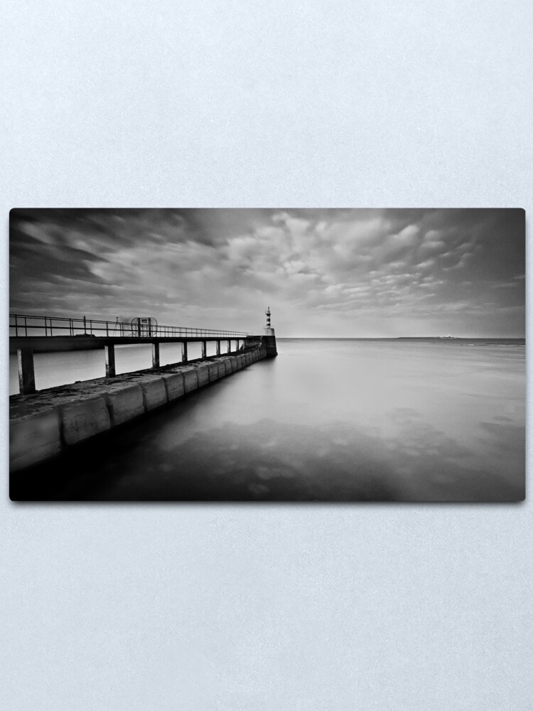 Alternate view of Long Pier Metal Print