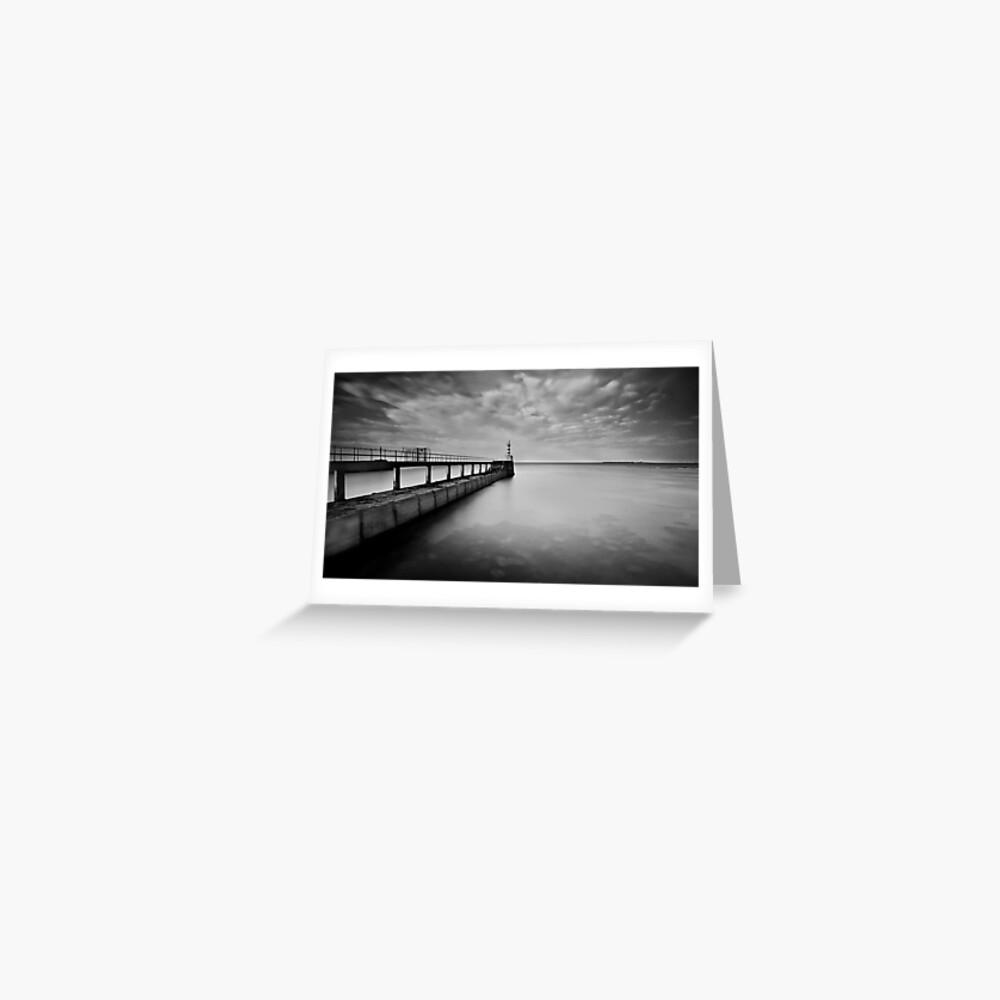 Long Pier Greeting Card