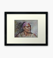 Serena Williams - Portrait 6 Framed Print